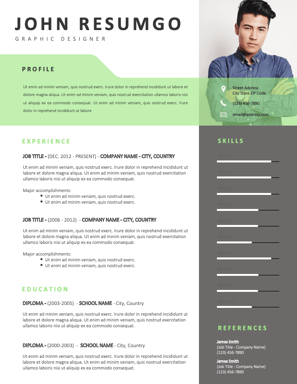 OCEAN - Free Fresh Resume Template