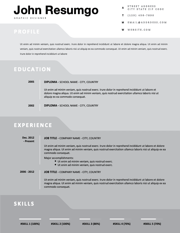 RYLEY - Free Simple Gray Resume Template