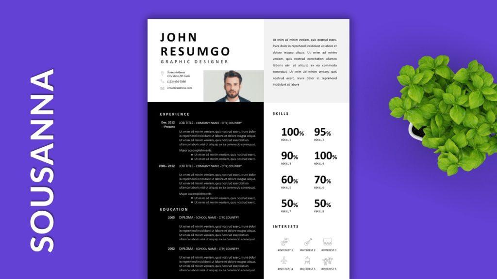 SOUSANNA - Free Resume Templates to Highlight your Skills