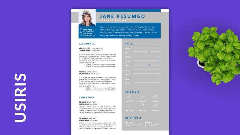 USIRIS - Free Resume Templates to Highlight your Skills